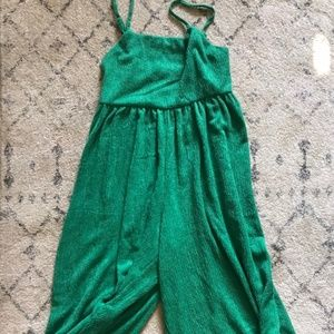Urban Outfitters Wide Leg Green Jumpsuit
